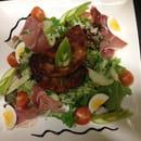 Plat : Le comptoir  - Salade Normande au camembert pané -