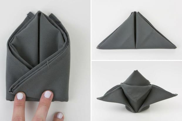 pliage de serviette fleur de lys tapes 5 7. Black Bedroom Furniture Sets. Home Design Ideas