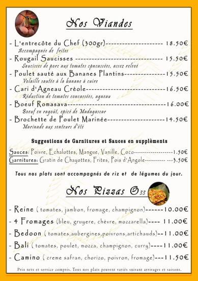 L'île aux Bourbons  - viandes et pizzas -   © monchy sophie