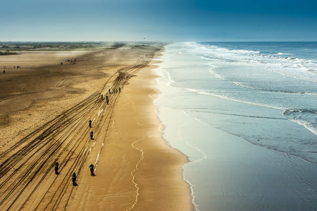 Départ simultané sur la plage à Moquega