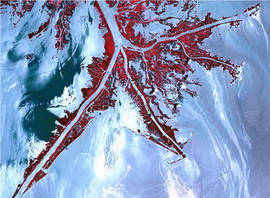 Traces de pétrole à l'embouchure du Mississippi