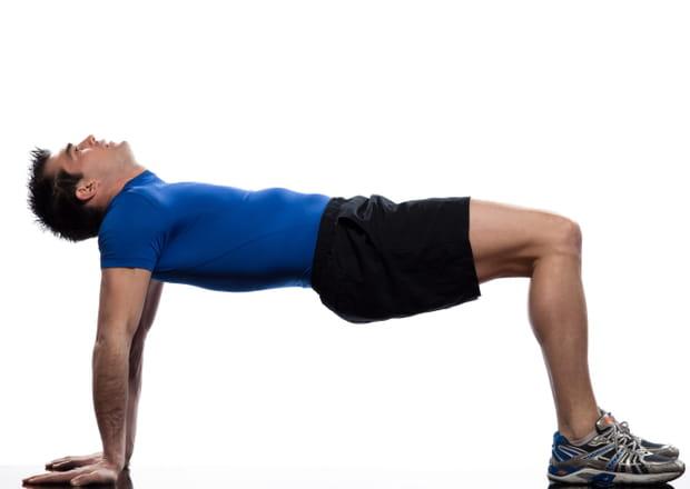 Le gainage dorsal, attention à l'équilibre