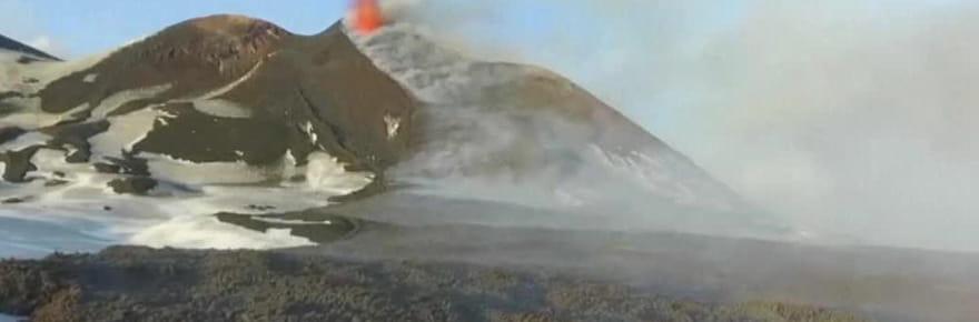 Etna: les images (brûlantes!) de l'éruption filmées par un drone