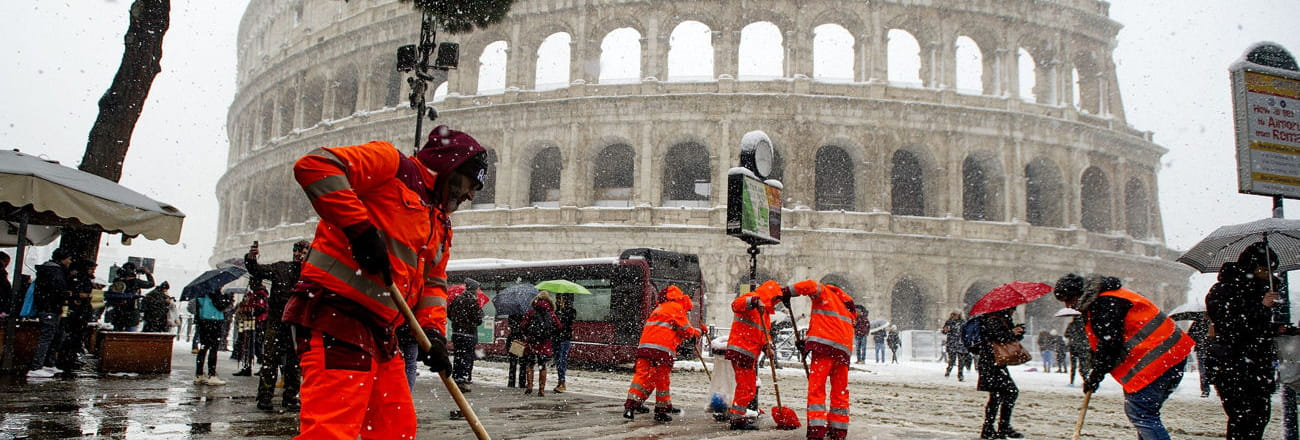 Les images spectaculaires du grand froid en Europe
