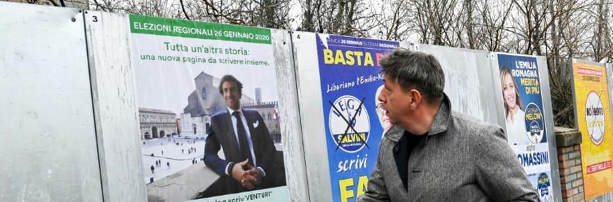 Régionales en Italie: l'extrême droite battue en Emilie-Romagne, coup dur pour Salvini
