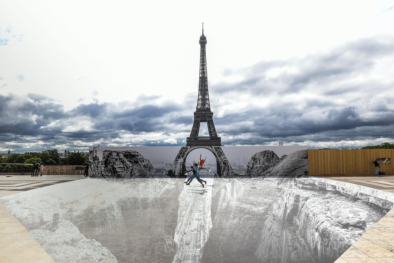 Tour Eiffel: ouverture le 16juillet 2021, trompe-l'oeil de JR