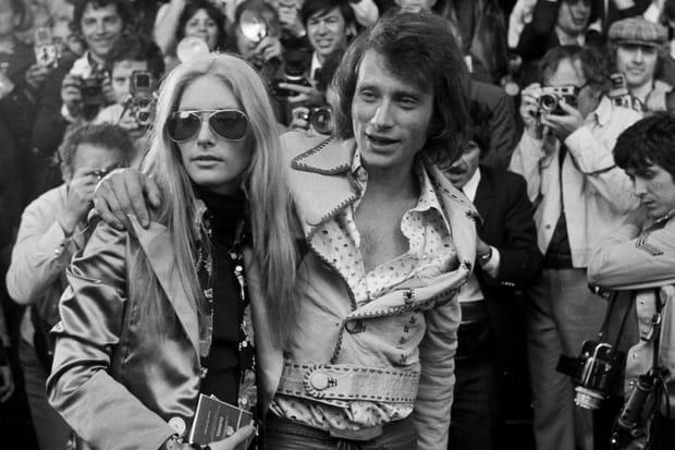 Sylvie Vartan et Johnny Hallyday, vedettes de Cannes en 1972