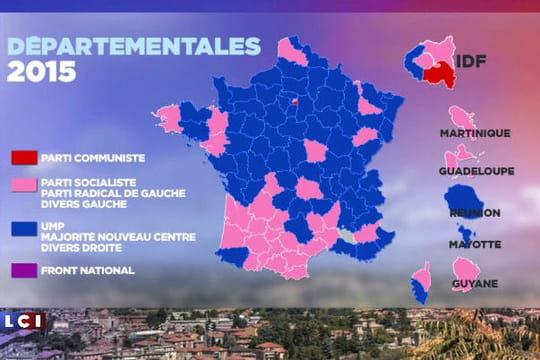 Résultats desdépartementales: les28départements qui basculent (définitif)
