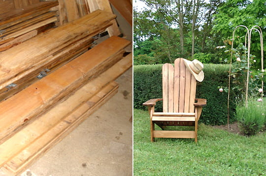Fabriquer un fauteuil en bois