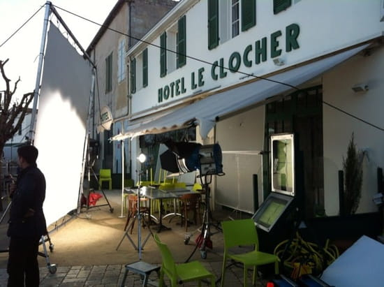 Entrée : LE CLOCHER  - Tournage du film Alceste à vélo avec mr Lucchini et mr Wilson à l'hôtel restaurant Le Clocher... -