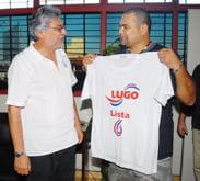 josé-luis chilavert (à droite), aux côtés de l'actuel président du paraguay.