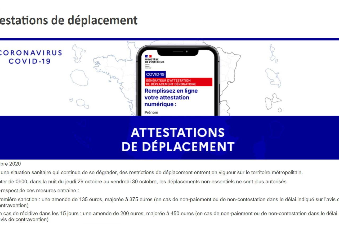 Attestation de déplacement (Covid): une nouvelle version qui reste obligatoire, le lien de téléchargement