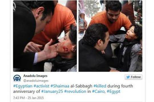 Shaïmaa al-Sabbagh: desphotos choc delamilitante tuée enEgypte surTwitter