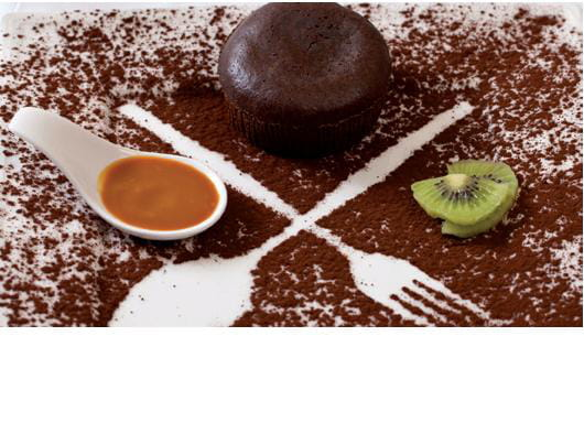Dessert : O Very Table  - Coeur coulant a la fleure de cacao -   © aa