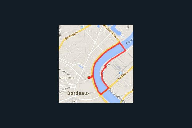 Bordeaux : les quais des Chartrons et le pont Chaban-Delmas (7,2km)