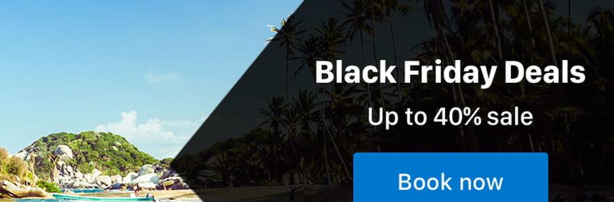 Booking: 40% de réduction sur les hébergements pour le Black Friday 2018