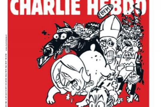 """Charlie Hebdo du 25février: la """"une"""" choc avec Le Pen et Sarkozy en chiens"""