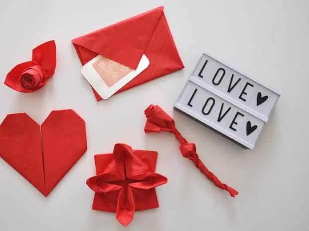 5pliages de serviettes ultra faciles pour la Saint-Valentin