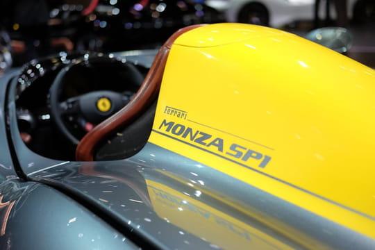 Ferrari Monza: nos photos des bolides italiens au Mondial de l'Auto