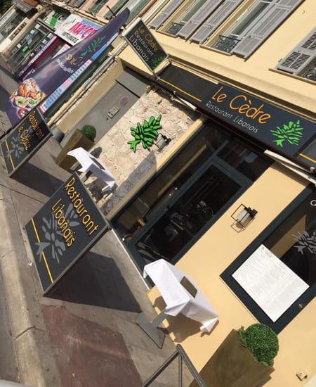 Restaurant : Le Cèdre  - Le Cedre restaurant libanais a Nice la facade -   © le cedre