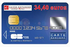 14e Caisse Dépargne Rhône Alpes Avec Une Carte Bleue Visa