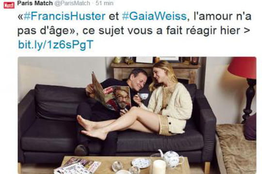 """Gaia Weiss: """"Jenecouche pas avec elle"""" assure Francis Huster"""