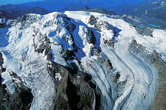 Le versant suisse du Breithorn