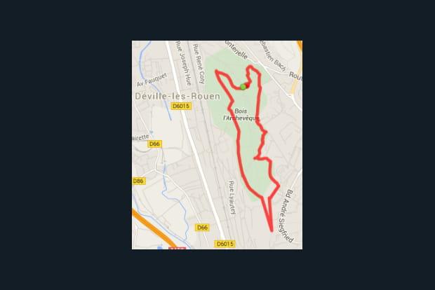 Rouen : le bois de l'Archevêque (4,4km)