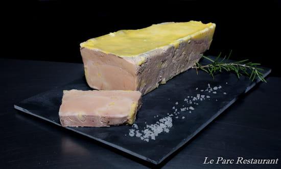 """Entrée : Le Parc  - Bloc de Foie Gras """"Maison"""" -   © Le Parc Restaurant"""