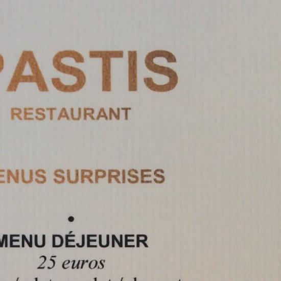 Restaurant : Le Pastis