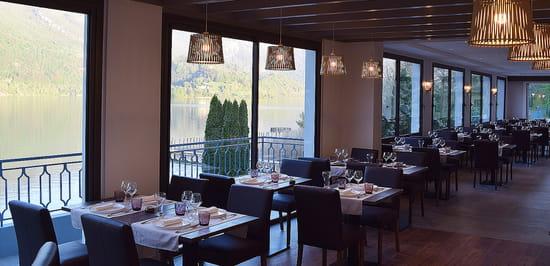 Restaurant : Les Roselières (Hôtel Novalaise Plage)  - Salle intérieure du restaurant -