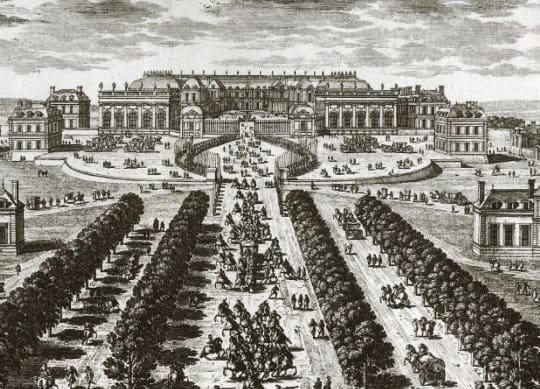Depuis l'avenue de Versailles