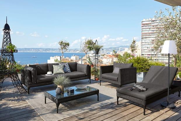 Un salon de jardin pour le balcon