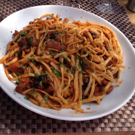 Plat : La Gourmandise  - Linguines aux seiches -