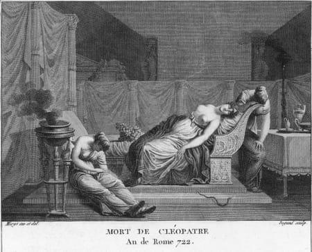 Cléopâtre VII se suicide en 30 av. J.-C. suite à la mort de son amant, Marc-Antoine