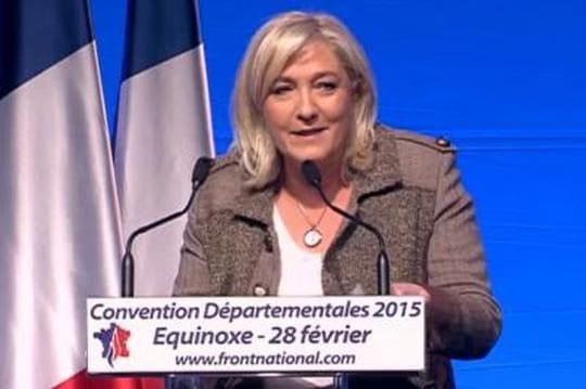 Départementales FN: 100élus Front national! L'objectif de Marine Le Pen
