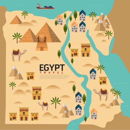 carte lieu pyramides egypte