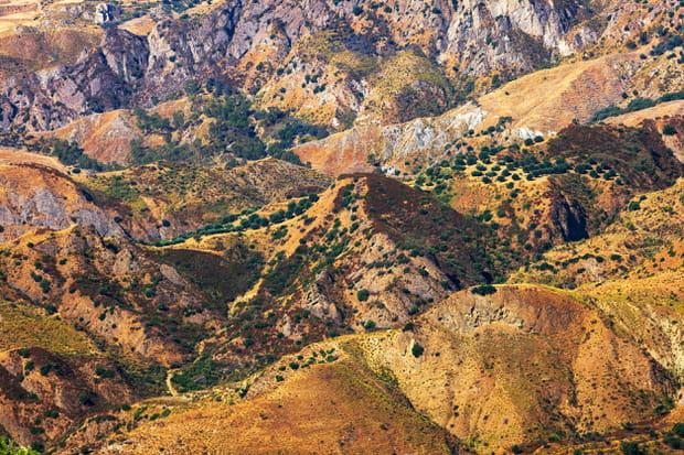 Le parc national de l'Aspromonte, en Calabre (Italie)