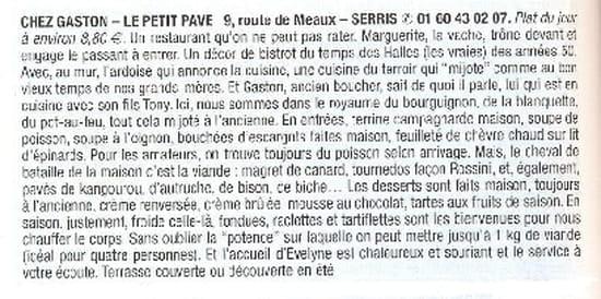 Chez Gaston au Petit Pavé  - recommandé par le petit futé -   © moi meme