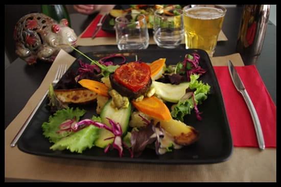 Au Vice Versa  - un exemple d'assiette végétarienne -