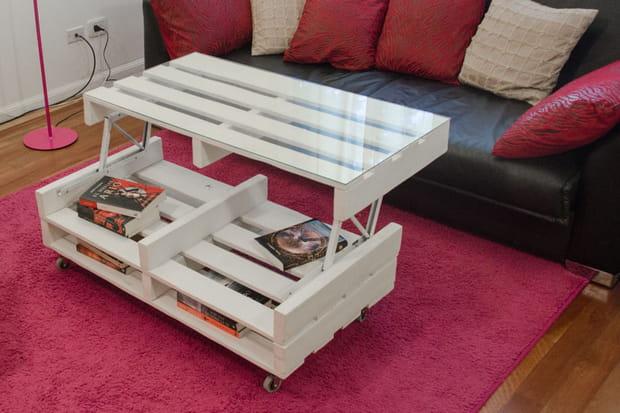 table basse relevable. Black Bedroom Furniture Sets. Home Design Ideas