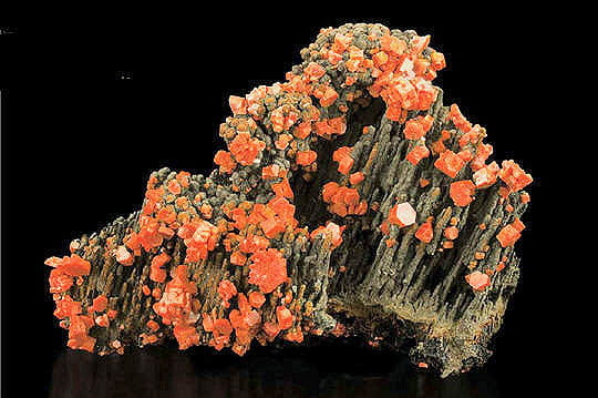 Vanadinite et goethite
