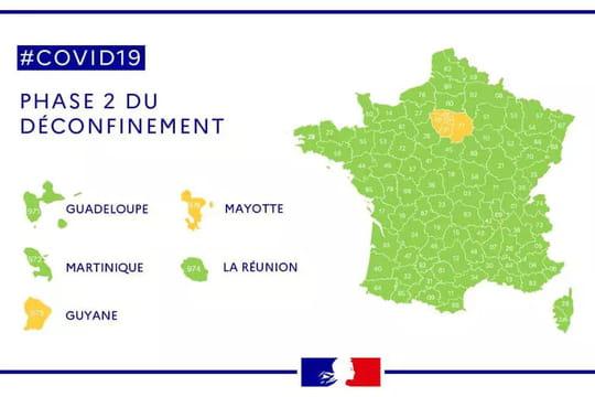 Carte du déconfinement: la nouvelle carte dévoilée, l'Ile-de-France en orange