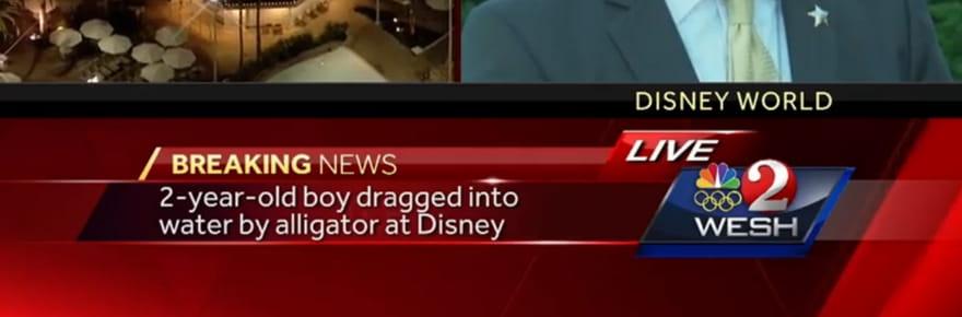 Disney World : l'enfant enlevé par un alligator est mort [VIDEO]