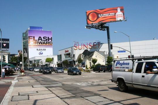 Sunset Boulevard, l'axe touristique de Los Angeles
