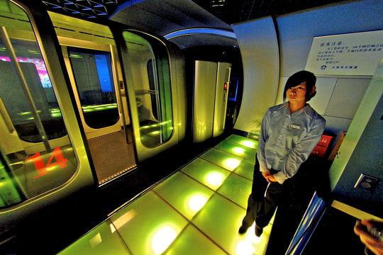 Le tunnel du Bund à Shanghai