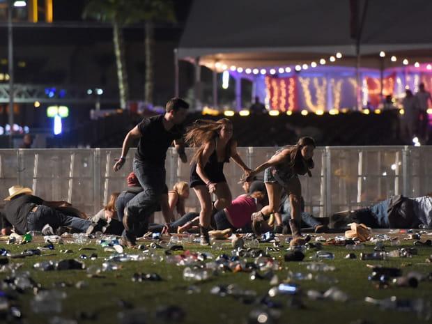 Les images choc de la fusillade de Las Vegas