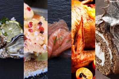 huîtres, saumon fumé, foie gras, dinde ou chapon rôti, bûche... un repas de noël