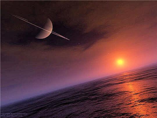 Saturne vue de Titan