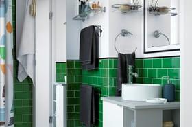 Comment apporter de la couleur dans la salle de bains?